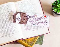 Whimsically Hand Drawn Bookmarks