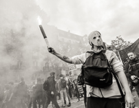 Paris protest against the new labor law