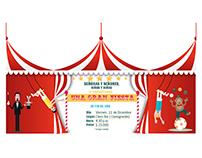 Tarjeta fiesta circo