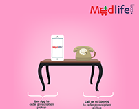 Medlife - Mobile App Promotions - Social Media Campaign