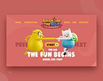 Adventure Time Run Website Interface