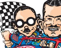 Pep Boys Auto : Brand Illustrations of Manny Moe & Jack