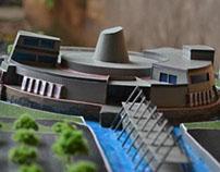 BUILDING MINIATURE PRESENTATION VOLCANO CENTER-YOGYA
