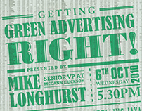 Getting Green Advertising Right  |  Invitation