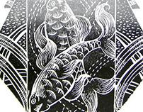Kimono Lino Cut Print