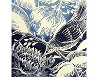 Woodland Bird Lino Cut Prints