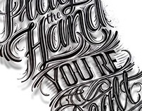 Play the Hand You're Dealt - Hand Lettering for tshirt