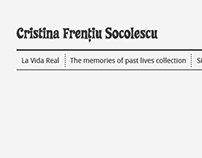 Cristina Frențiu Socolescu website proposal