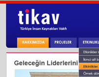 Tikav.org.tr Website Design-Turkey Human Resources Org.