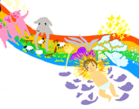 Illustration of children songs