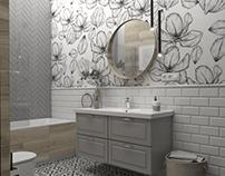 Łazienka w kwiaty