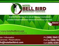 Tarjetas de Presentación Hotel BellBird