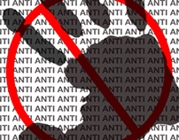 Zine: Series of posters on the theme 'Anti'