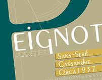 Peignot Typeface Specimen Poster