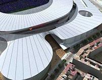 Nuevo Estadio Valencia CF. Arpa- Evata España.