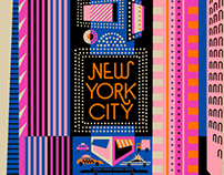 New York City Souvenir Scarf design
