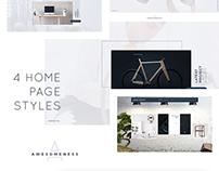 Awesomeness - Agency & Portfolio PSD Template