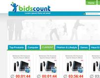 Bidscount.de açık arttırma sitesi anasayfa tasarımı