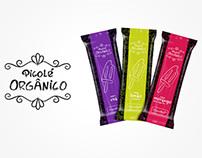 Design de embalagem - Picolé Orgânico | OrganicBaby