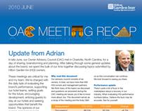 Hilton Garden Inn OAC Recap Newsletter