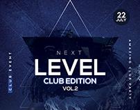 Next Level - DJ PSD Flyer Template