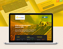 Solar Energy Landing page
