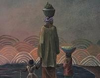 Purity of Motherhood 10 x 16 in. Acrylic on canvas.