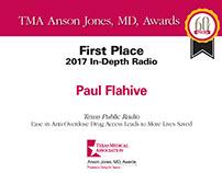 Texas Medical Association Anson Jones Award certificate