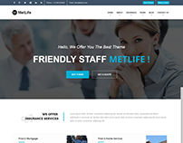 metlife insurance html template  Bipon Biswas on Behance