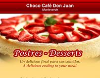Menú PM para Choco Café Don Juan