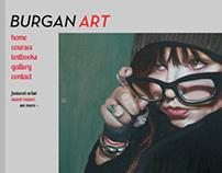 Burgan Art Website