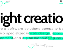 Bright Creations website (draft)