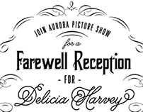 Aurora Picture Show Farewell Party Invite: DH