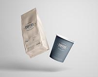Coffee Package Mockup