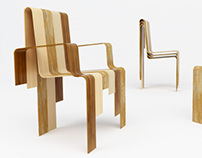 """Waterfall"" chair and armchair"