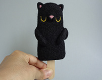 Popsicle Black Cat - Halloween Art Toy