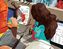 Aggression in the Workplace - Editorial Illustration