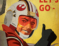Star Wars Rebel Pilot propaganda poster