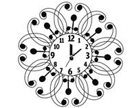 Horloge Typographique