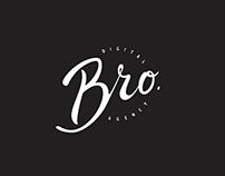 Calligraphic logo for Bro