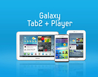 SAMSUNG GALAXY Tab2 + Player