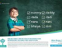 Max Bupa Health Insurance - Ad Campaign
