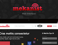 Mekanist Web User Interface Design