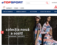 Web design for eTopSport