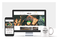 The logo and website design for an online coffee store