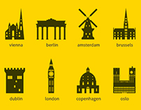 European Capital Landmarks – Silhouettes