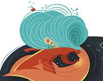 Editorial Illustration for Hillsider Magazine