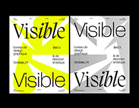 Visible Visible * Type Poster — Editorial Design