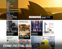 Sydney Festival - Website 2013