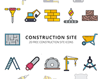 Construction Site Vector Free Icon Set